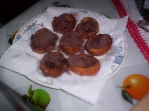 Mini Rabanadas de Chocolate