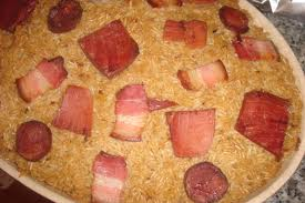 Arroz Pato com Bacon