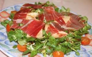 Salada de Canónigos com Perdiz