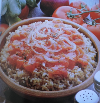 Arroz Integral e Tomate ao Natural