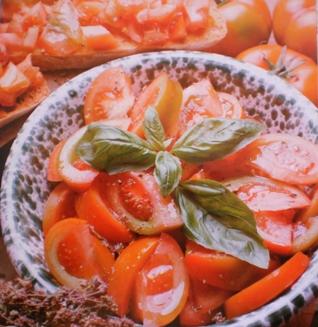 Salada de Tomate e Manjericão