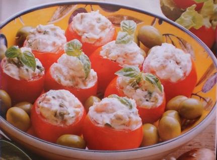 Tomates Cereja Recheados com Queijo de Cabra