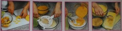 Modo Preparação Gelado de Ricota e Fruta
