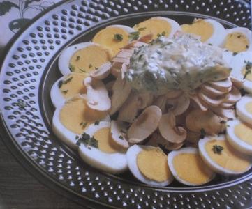 Salada Nutritiva de Ovos com Cogumelos