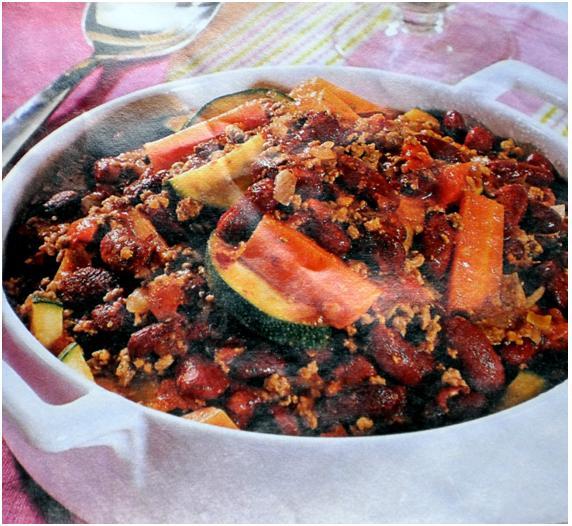 Chili de carne e legumes