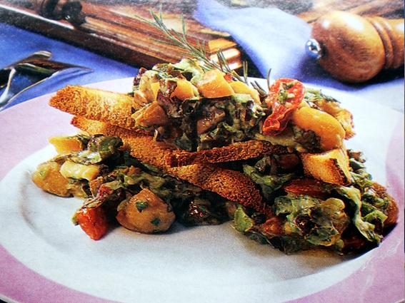 Legumes salteados com abacate