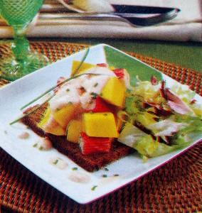 Salada de delícias com manga