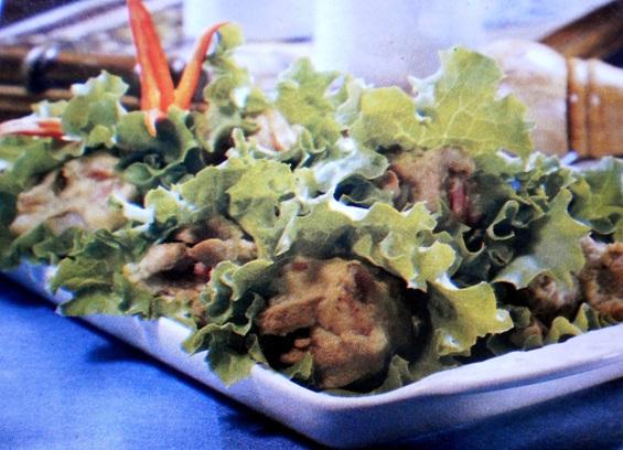 Salada quente com molho de Bacon