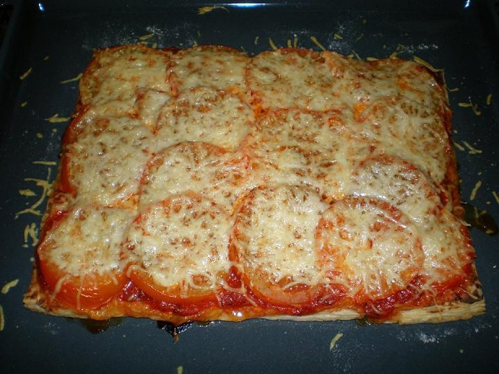 Tarte de tomate no forno