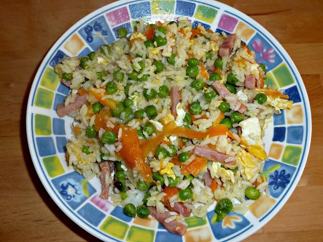 Prato arroz Colorido