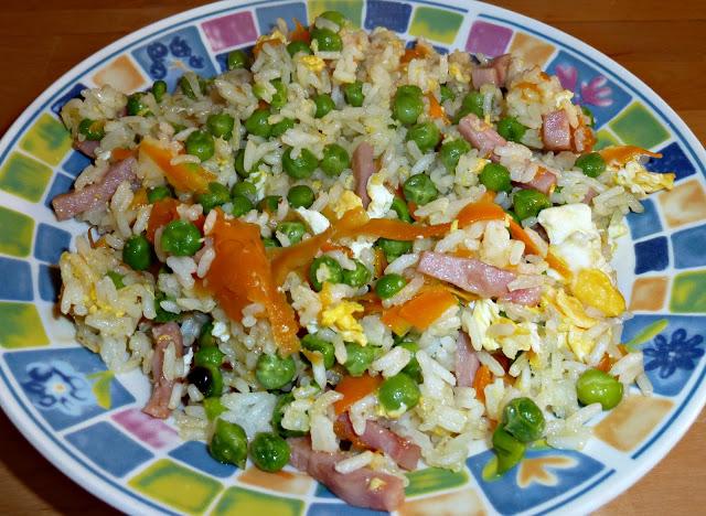 travessa arroz chinês colorido