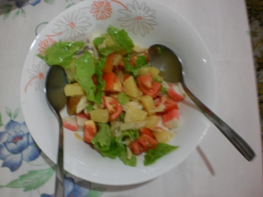 Salada Rápida, Fresca e com Ananás